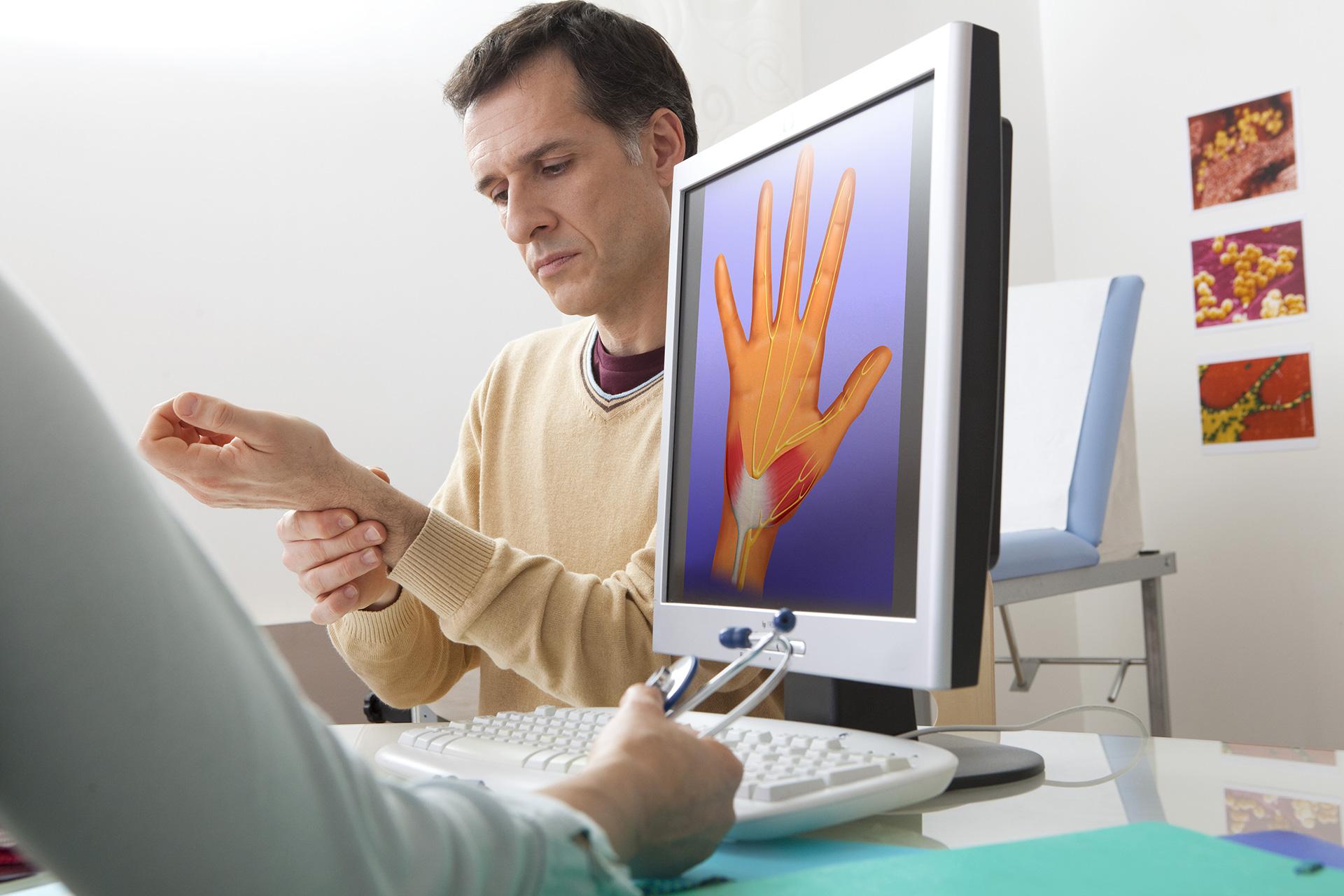 Orthopedics Consultation Man